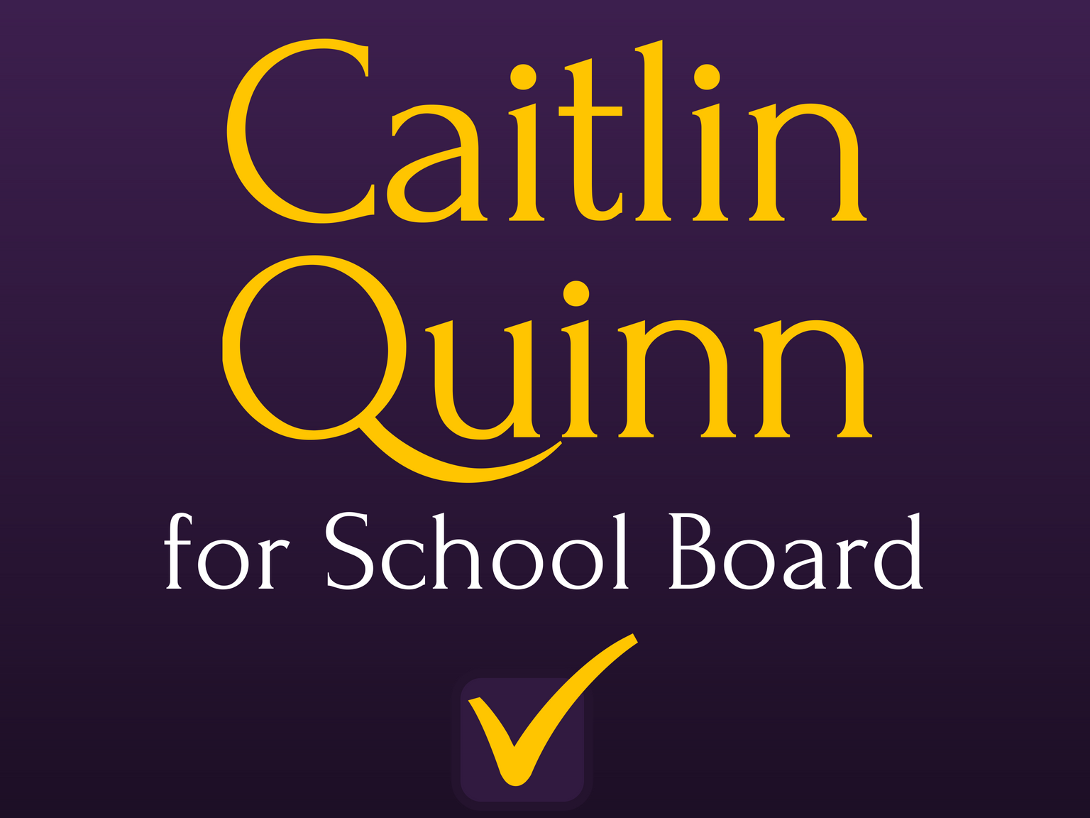 Caitlin Quinn for Petaluma City Schools